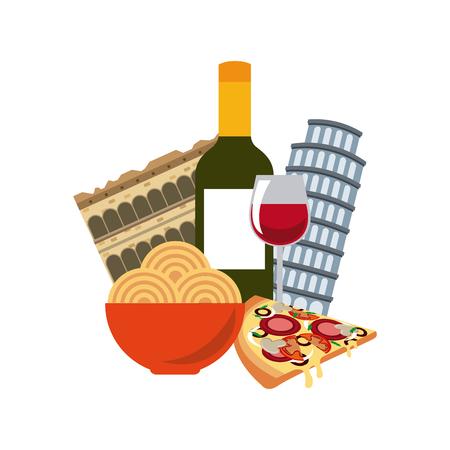 italian culture: italian culture holidays icon vector illustration design