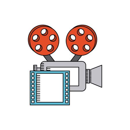 cinematographic: cinematographic camera with cinema icon vector illustration design