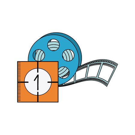 tape reel with cinema icon vector illustration design