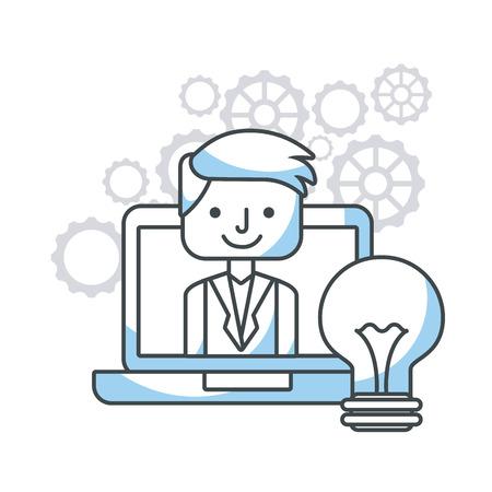 vacancy: human resources flat line icons vector illustration design Illustration