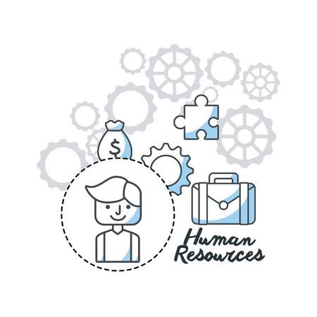 human resources flat line icons vector illustration design Illustration