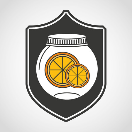 canned fruit: canned fruit in mason jar vector illustration design Illustration
