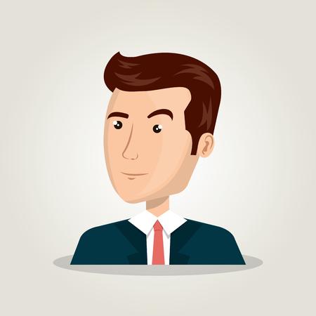 light brown hair: cartoon man idea think creativity design vector illustration Illustration