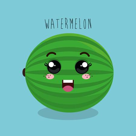 esp: cartoon fruit facial expression design isolated vector illustration esp 10