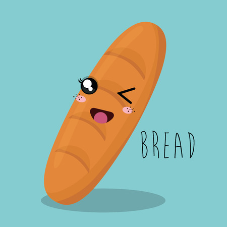 bun: cartoon bread bakery design isolated vector illustration eps 10