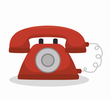 receiver: social media telephone isolated icon design, vector illustration graphic