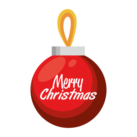 big ball: merry christmas big ball red design vector illustration eps 10