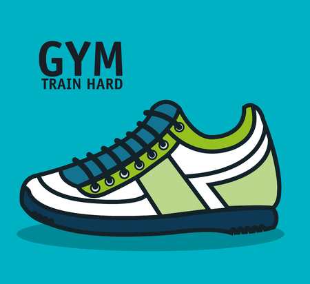 footwear: training hard sneaker footwear design vector illustration