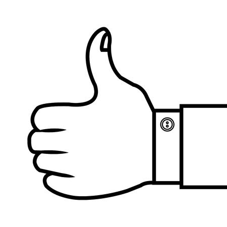 hand, thumb up