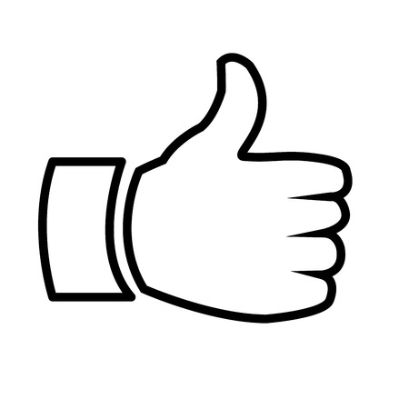 estimation: hand, thumb up  vector