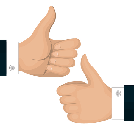 thumbs up icon gesture back and front