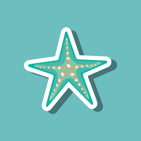 sea star blue beach design vector illustration Illustration