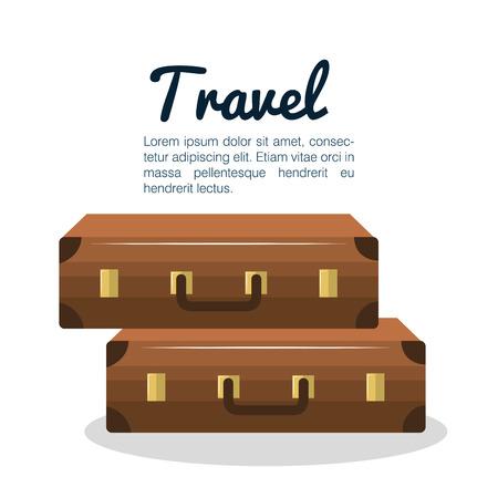 wave tourist: travel suitcase vacation design vector illustration