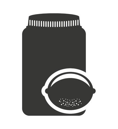 mason: canned fruit in mason jar monochrome silhouette vector illustration design