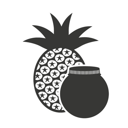 canned fruit: canned fruit in mason jar vector illustration design Stock Photo