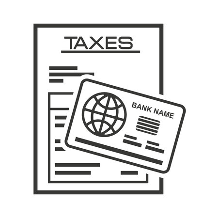 accountants: tax receip paper document vector illustration design