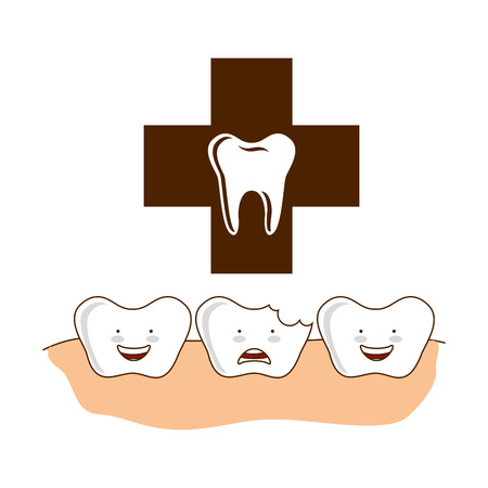 dental healthcare equipment flat icons vector illustration design Illustration