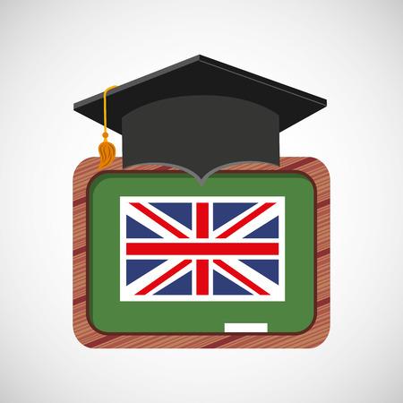 Apprendre l'anglais icônes d'éducation vector illustration conception Banque d'images - 62773631