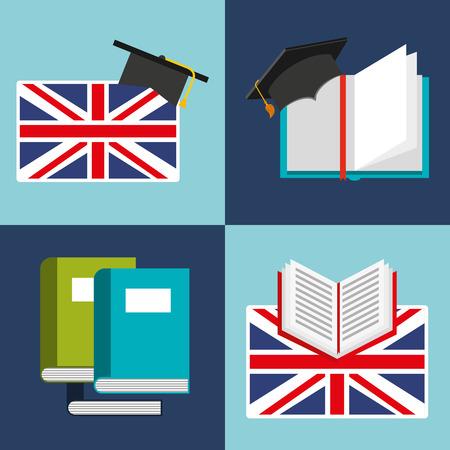 Apprendre l'anglais icônes d'éducation vector illustration conception Banque d'images - 62773640
