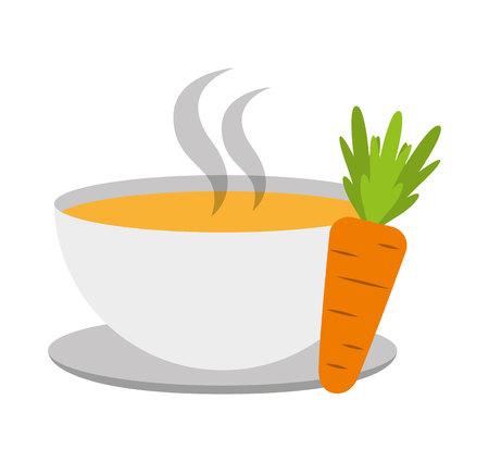 frescura: Icono de los alimentos ilustración vectorial diseño de la cocina vegetariana