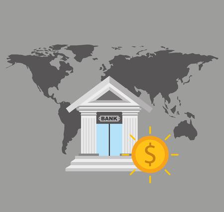 building trade: global economy planet concept vector illustration design