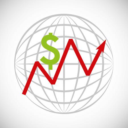global economy: global economy planet concept vector illustration design