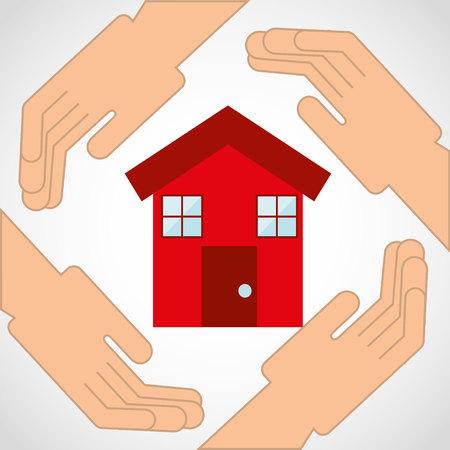 home insurance: home insurance property concept icon vector illustration design Illustration