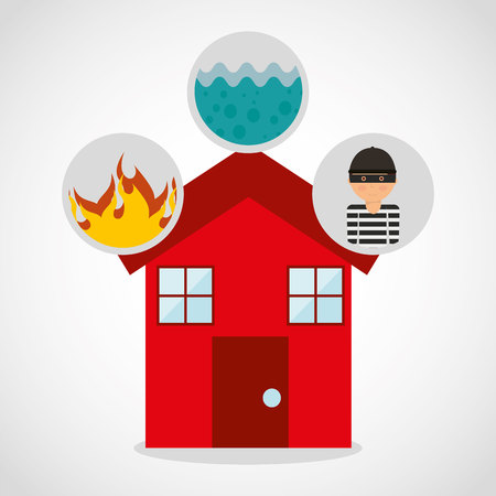 home insurance property concept icon vector illustration design Illustration