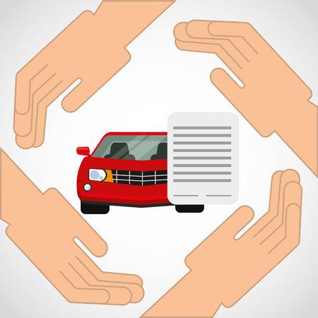 car insurance business icon vector illustration design Illustration