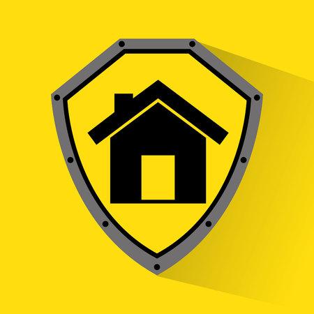 guard house: home insurance property concept icon vector illustration design Illustration