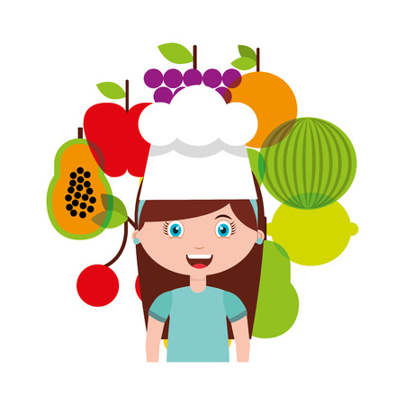 little chef: little chef kids menu vector illustration design