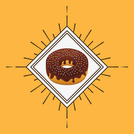 baked: delicious donut baked goods vector illustration design