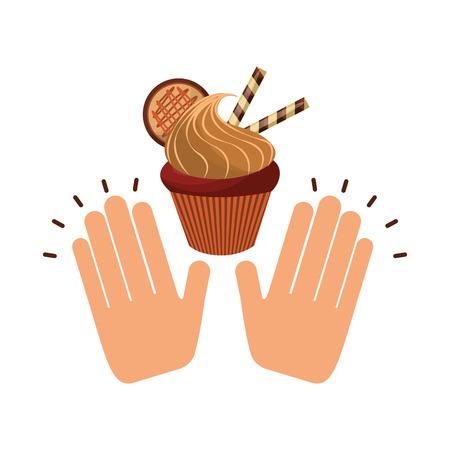 baked: delicious baked goods hand made vector illustration design Illustration
