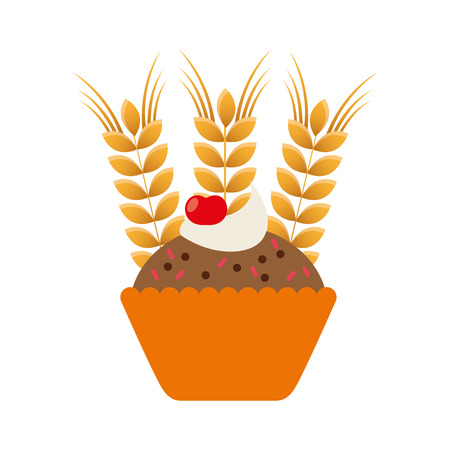 spike: bakery product with spike vector illustration design