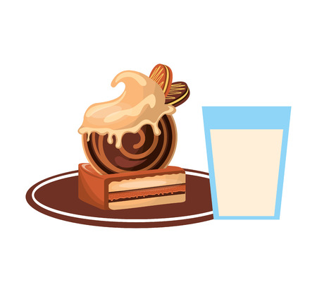 loaf: delicious tray - baked goods vector illustration design