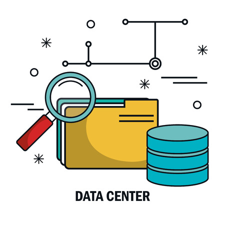 remote backup service: file archive search data server isolated vector illustration eps 10 Illustration