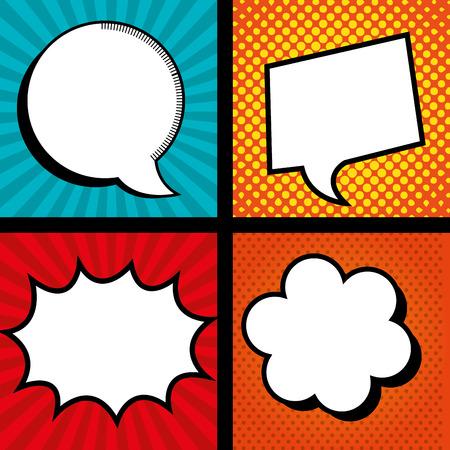 laugh out loud: set icon bubble speech color graphic vector illustration