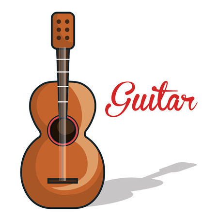 mexican ethnicity: icon guitar mexican music graphic vector illustration eps 10
