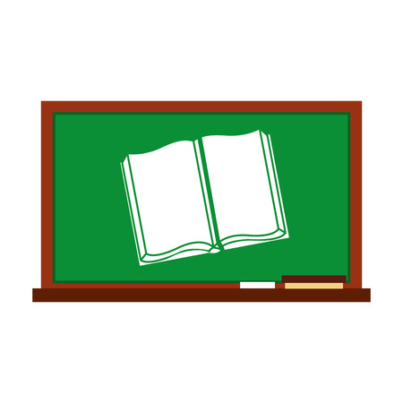 greenboard: greenboard with school icon vector illustration design Illustration