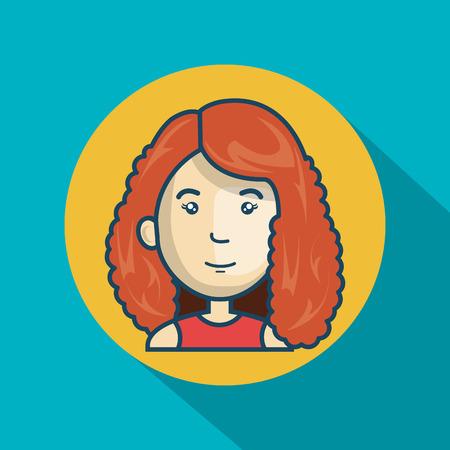 cartoon girl character web graphic vector illustration eps 10