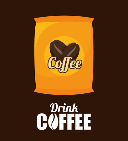 bagful: sack coffee bean graphic vector illustration eps 10 Illustration