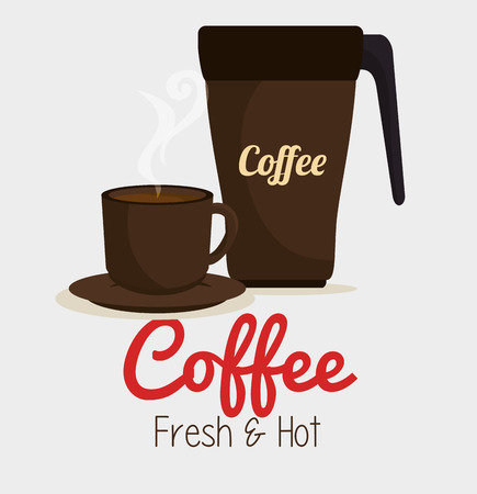 mocca: cup coffee and plate graphic vector illustration eps 10 Illustration