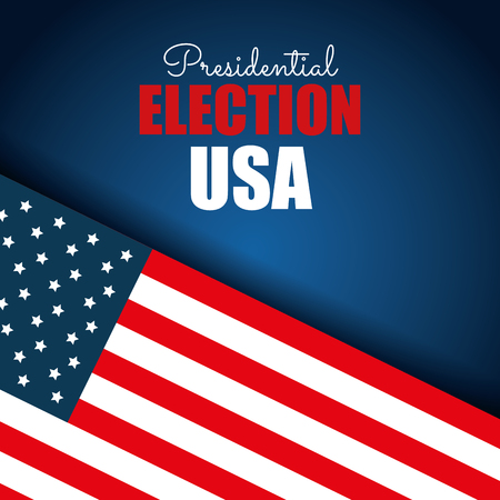presidential: flag usa election presidential blue background graphic vector illustration eps 10