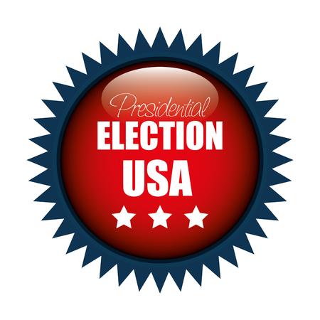 responsibility survey: icon button presidential election usa graphic vector illustration eps 10