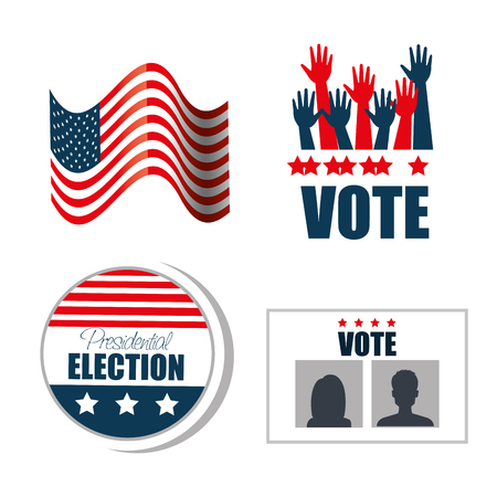 set concept election presidential isolated graphic vector illustration eps 10 Illustration