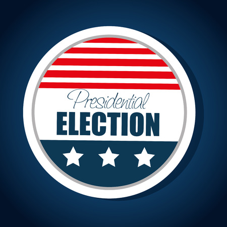 presidential: button flag usa election presidential graphic vector illustration eps 10