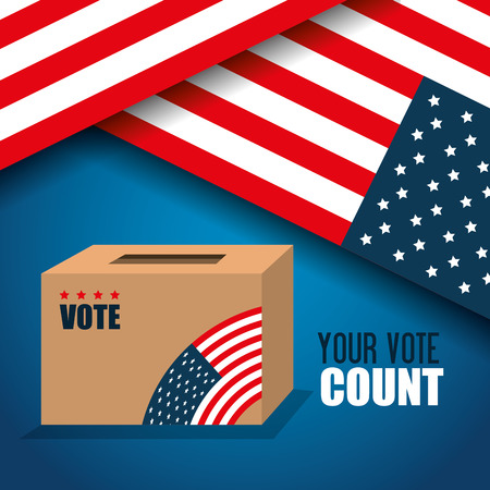 voting box: icon voting box election presidential graphic vector illustration eps 10 Illustration