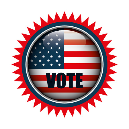 icon button flag usa vote graphic vector illustration eps 10