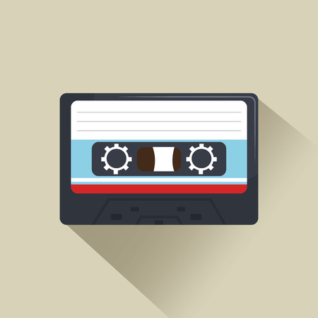 record breaking: cassette news record graphic vector illustration