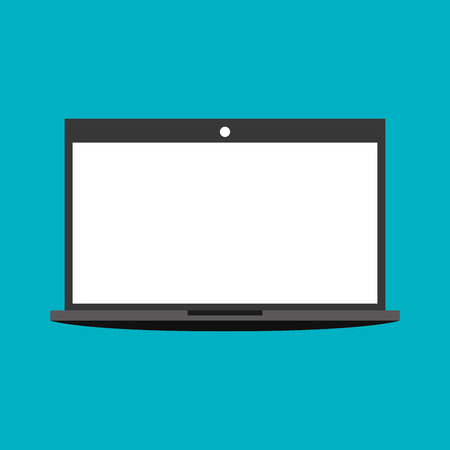 laptop screen: laptop screen white graphic vector illustration Illustration